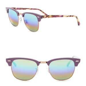 Ray-Ban 51mm Clubmaster sunglassed violet